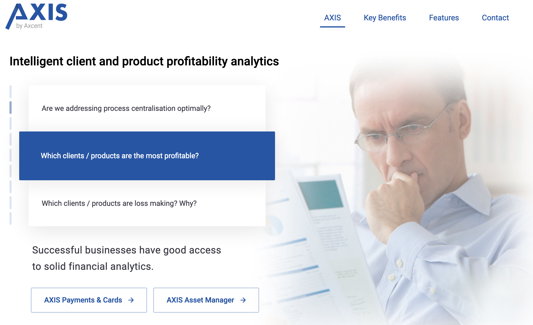 AXIS Intelligent client and product profitability analytics