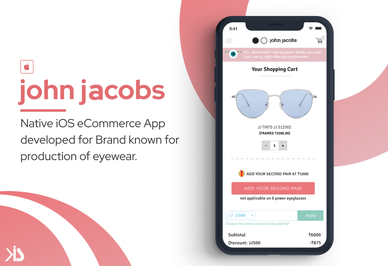 Native iOS eCommerce App for Known Brand of Eyewear